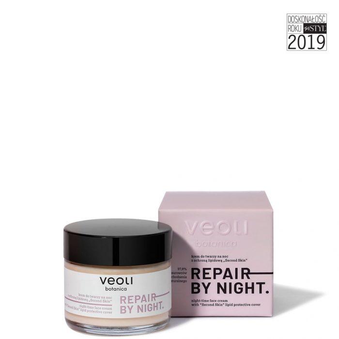 Krem do twarzy na noc z ochroną lipidową SECOND SKIN REPAIR BY NIGHT 60 ml z Veoli Botanica 01