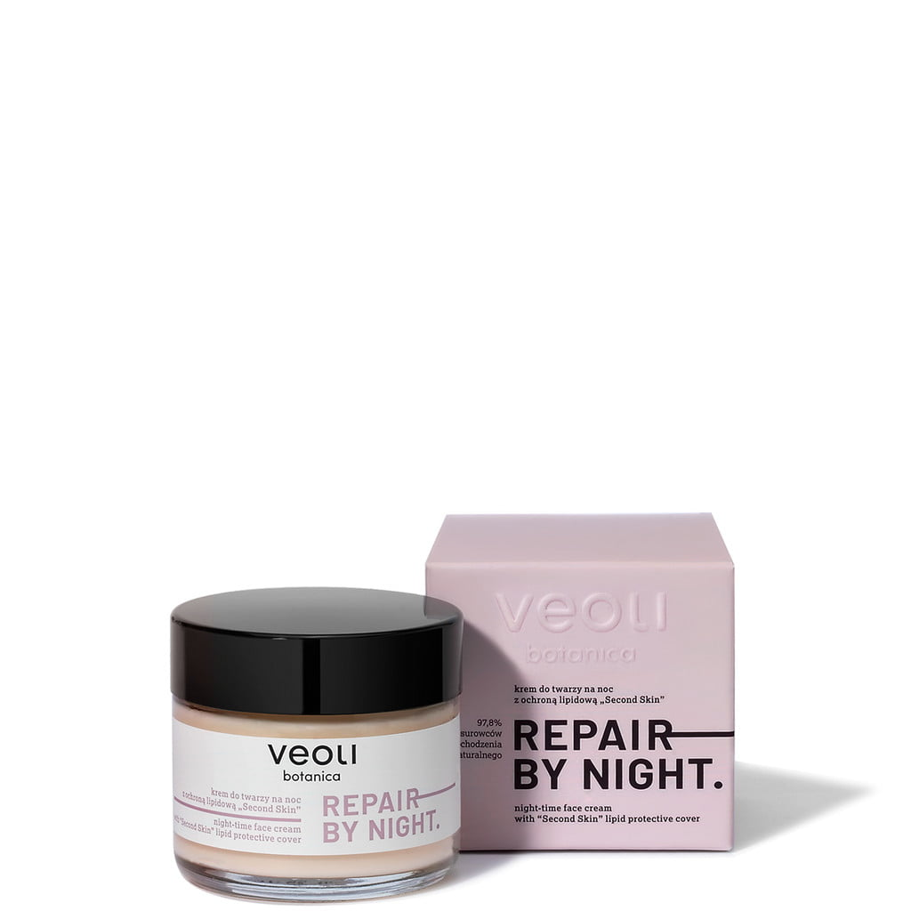 Krem do twarzy na noc z ochroną lipidową SECOND SKIN REPAIR BY NIGHT 60 ml z Veoli Botanica 02