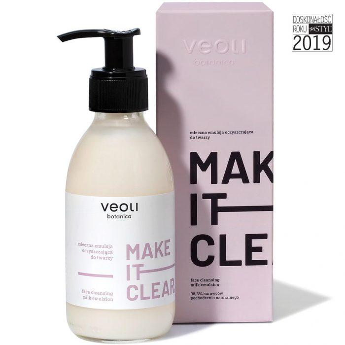 Mleczna emulsja oczyszczająca do twarzy MAKE IT CLEAR (200ml) z Veoli Botanica 01