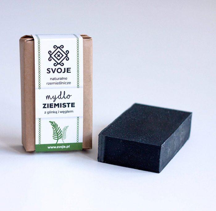 Mydło ziemiste (czarne) z węglem aktywnym ze Svoje 2