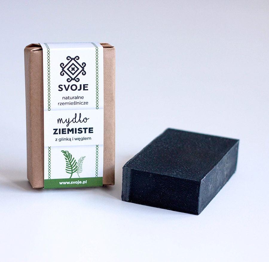 Mydło ziemiste (czarne) z węglem aktywnym ze Svoje