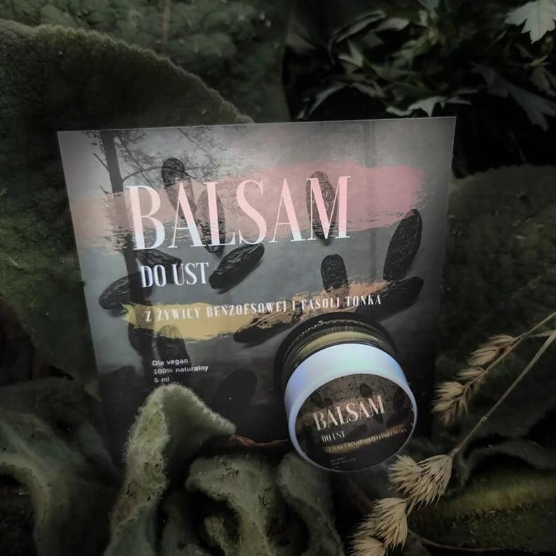 Balsam do Ust z Fasoli Tonka i Żywicy Benzoesowej od Trawiaste