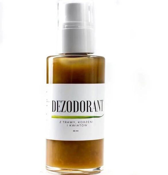 Dezodorant z trawy, korzeni i kwiatów od Trawiaste