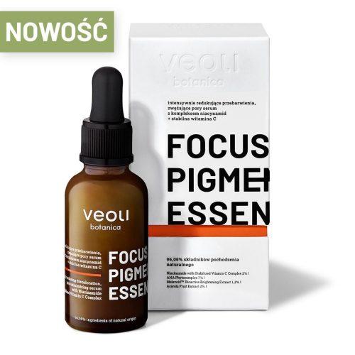 Veoli Botanica FOCUS PIGMENTATION ESSENCE intensywnie redukujące przebarwienia, zwężające pory serum z kompleksem niacynamid + stabilna witamiana c