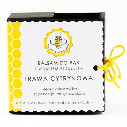 Balsam do dłoni TRAWA CYTRYNOWA od Miodowa Mydlarnia