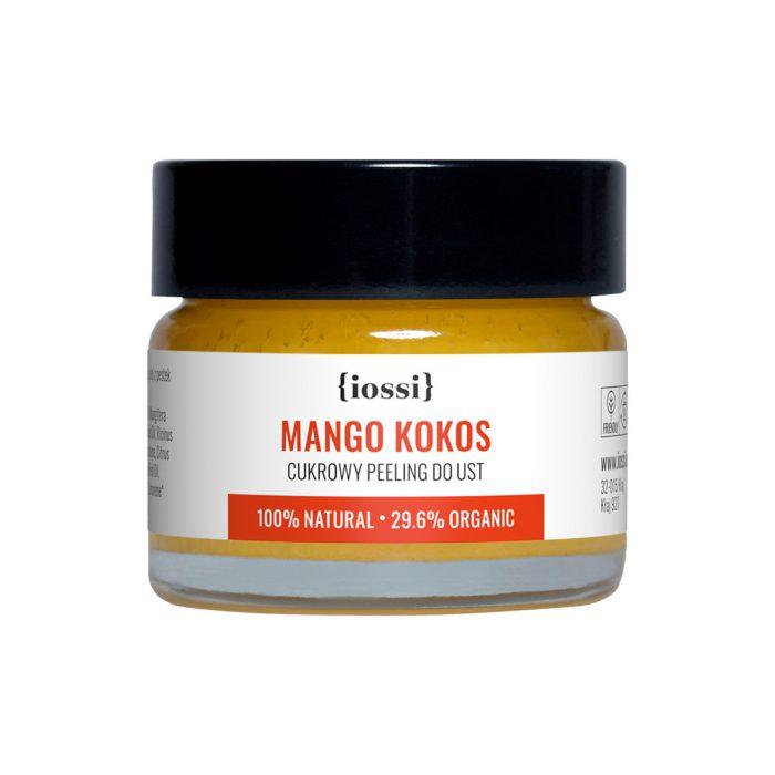 Mango Kokos. Delikatny cukrowy peeling do ust z woskiem pszczelim z Iossi