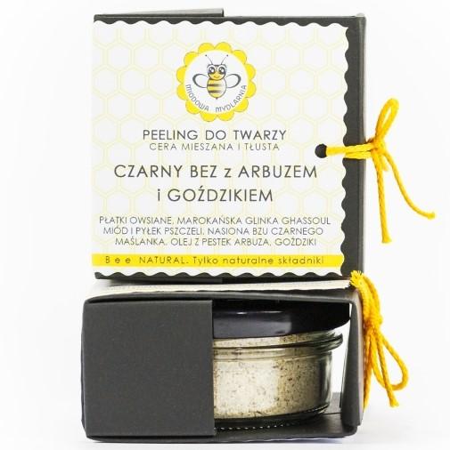 Peeling CZARNY BEZ z ARBUZEM i GOŹDZIKIEM od Miodowa Mydlarnia