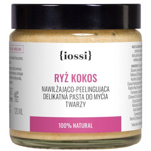 Ryż Kokos. Peelingująca pasta do mycia twarzy z Iossi