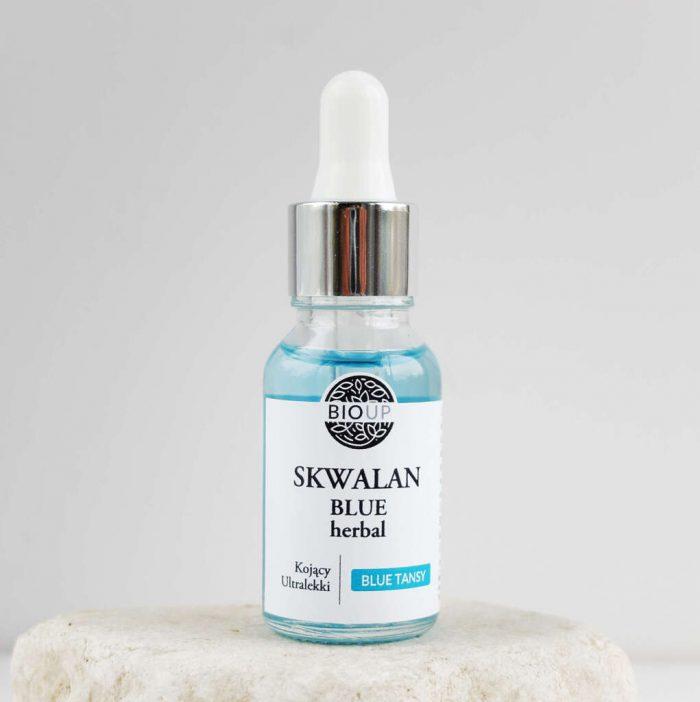Skwalan BLUE TANSY – niebieskie serum lekki olejek przeciwzapalny z BIOUP