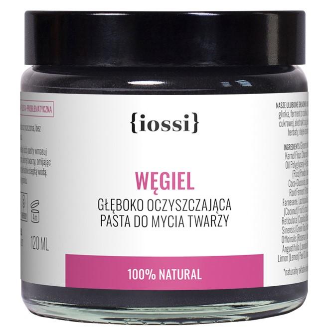 Węgiel. Oczyszczająca pasta do mycia twarzy z Iossi