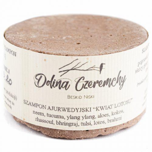 Ajurwedyjski szampon w kostce KWIAT LOTOSU z Doliny Czeremchy