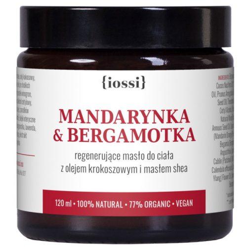 Mandarynka Bergamotka. Aromatyczne masło do ciała z olejem krokoszowym z Iossi