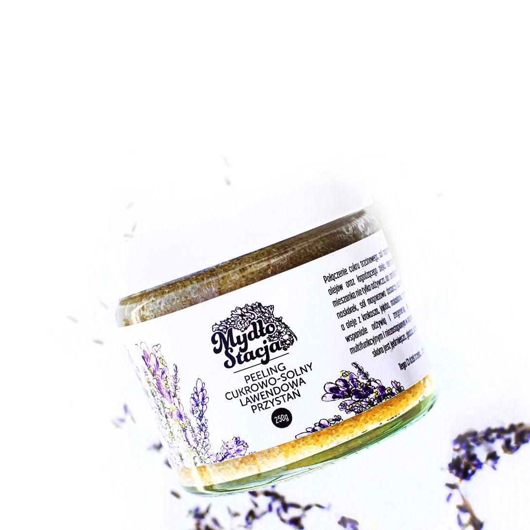 Peeling cukrowo-solny LAWENDOWA PRZYSTAŃ z Mydło Stacja