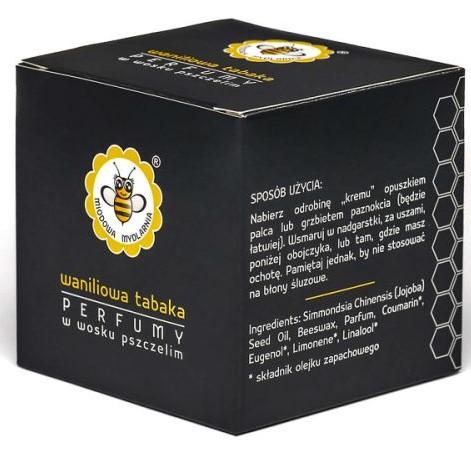 Perfumy w wosku pszczelim WANILIOWA TABAKA od Miodowa Mydlarnia