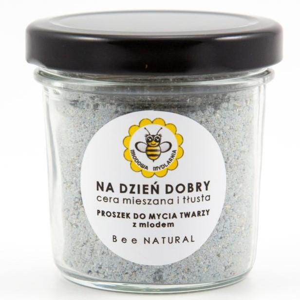 Proszek do mycia twarzy NA DZIEŃ DOBRY cera mieszana i tłusta od Miodowa Mydlarnia